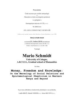 Mario Schmidt - Česká asociace pro sociální antropologii