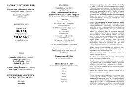program - Bach-collegium Praha