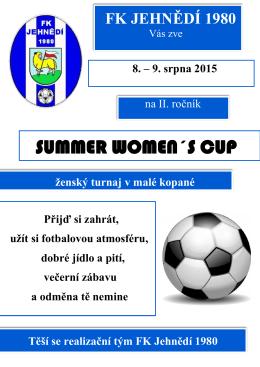 SUMMER WOMEN´S CUP - Fotbalové turnaje žen