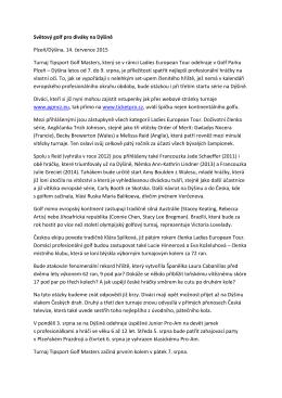Tiskovou zprávu z 14.7.2015 nalezente ZDE.