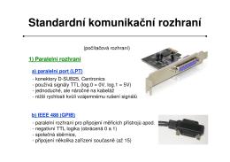 Standardní komunikační rozhraní