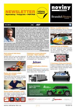 Newsletter 10/15 - Reklama Polygraf