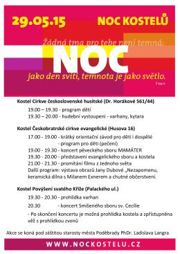 Kostel Církve československé husitské (Dr. Horákové 561/44) 19.00