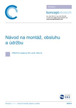 NÁVOD  - Koncept Ekotech