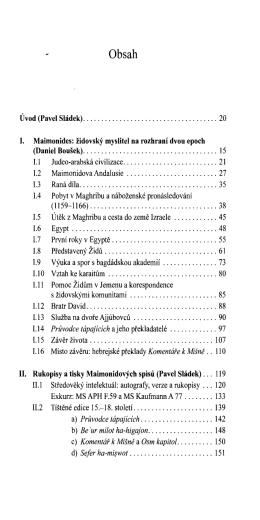 Moše ben Majmon - Maimonides. Filosof, právník a lékař