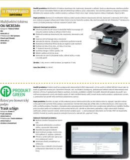 Řešení pro biometrický podpis Trask u:Sign