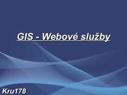 GIS - Webové služby