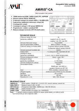 Katalogový list AMiRiS-CA