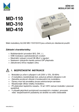 MD-110 MD-310 MD-410