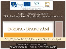 VY_32_INOVACE_13_Evropa – Opakování_44