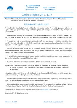 Zpráva ZV 2015-03-24
