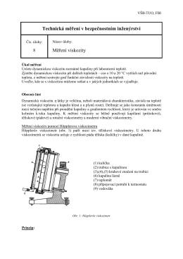 Úloha č.8 - Měření viskozity
