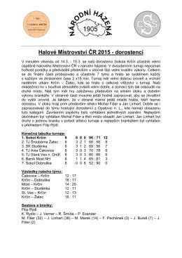 Halové Mistrovství ČR 2015 - dorostenci