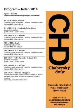 Program – leden 2016