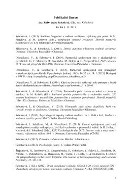Seznam vědeckých a odborných prací