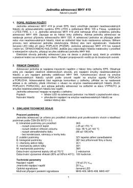 Jednotka adresovací MHY 419