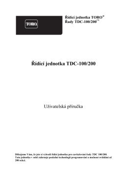 Řídící jednotka TDC-100/200