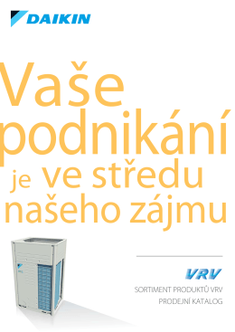 Katalog klimatizace Daikin pro VRF Business systémy - M