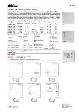 94.250/1 Sauter Systems EYB 250...256: Prostorové ovládací jednotky