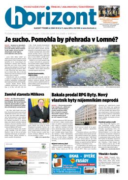 Je sucho. Pomohla by přehrada v Lomné?