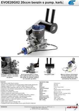 EVOE20GX2 20ccm benzín s pump. karb.