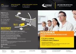 Školení projektování detekce plynů POZVÁNKA 6.10