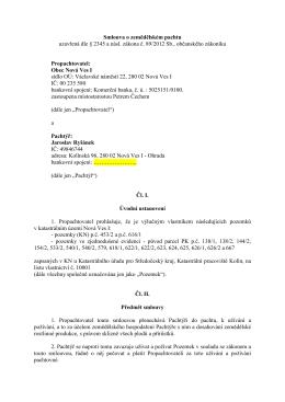 Pachtovní smlouva č. 55-15