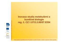 02. Struktura hmoty - atomu - Inovace studia molekulární a buněčné