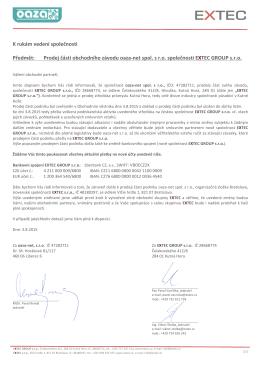 Dopis obchodním partnerům CZ