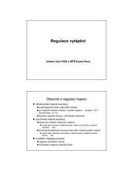 Regulace otopných soustav