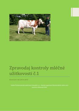 Zpravodaj kontroly mléčné užitkovosti 1-2015