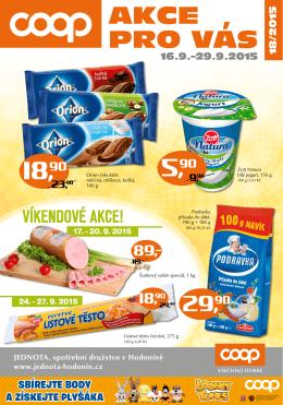 AKCE PRO VAS - Jednota, spotřební družstvo v Hodoníně