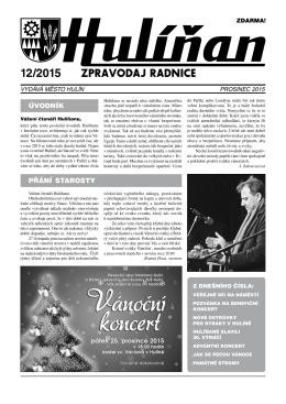 Hulíňan č. 12/2015
