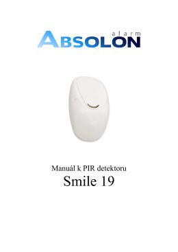 Popis Smile 19 - Alarm Absolon, spol. s .ro