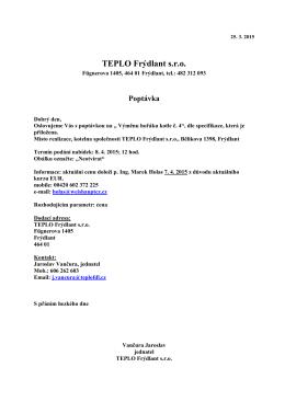 TEPLO Frýdlant s.r.o. - Organizace TEPLO Frýdlant, spol. sro