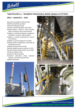 Teplo Bruntál a.s. - Kompletní rekonstrukce uhelné výtopny na CV
