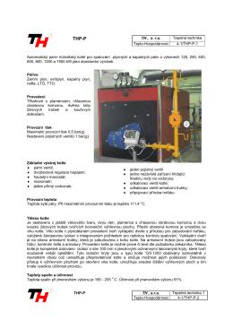 TH , s. r.o. Tepelná technika Teplo-Hospodárnost 4-1/THP-P
