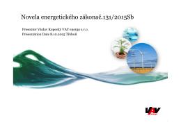 Novela energetického zákona 131/2015 Sb.