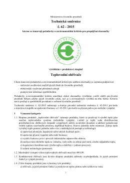 2015 Teplovodní ohřívače - CENIA, česká informační agentura