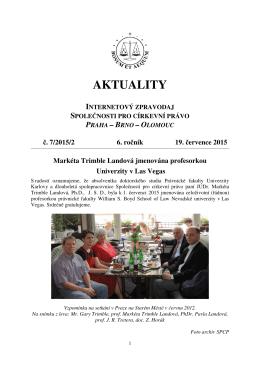 Aktuality č. 7/2015/2 - Společnost pro církevní právo