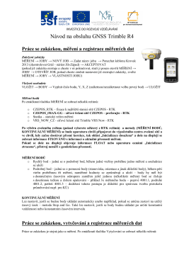Návod na obsluhu GNSS Trimble R4