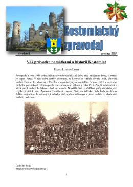 Váš průvodce památkami a historií Kostomlat