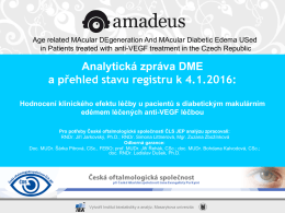 Analytická zpráva DME a přehled stavu registru k 4.1.2016: