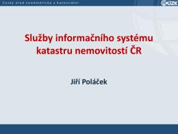 Služby IS katastru nemovitostí ČR