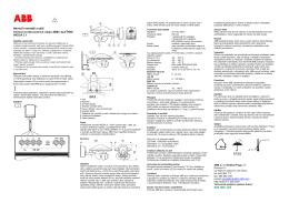 Návod k montáži a užití Snímač povětrnostních údajů ABB i