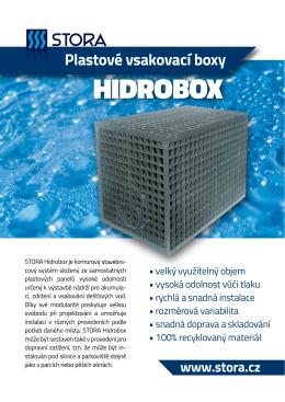 Leták Hidrobox