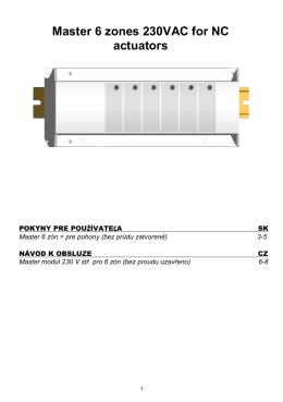 Návod - Pripájacia elektrická lišta 230 V