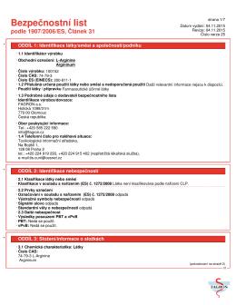 Bezpečnostní list podle 1907/2006/ES, Článek 31
