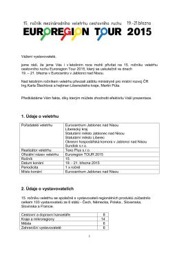 Závěrečná zpráva z Euroregionu Tour 2015 ke