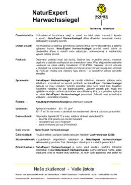 Technický list Rosner NaturExpert Hartwachssiegel